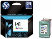 HP 141 Tri Colour Ink Cartridge – for use with HP Deskjet D4263, HP Deskjet D4363, HP Officejet J5783, HP Officejet J6413, HP Photosmart C4273, HP Photosmart C4283, HP Photosmart C4343, HP Photosmart C4383, HP Photosmart C4473, HP Photosmart C4483, HP Photosmart C4583, HP Photosmart C5283, HP Photosmart D5363, Retail Box , No Warranty