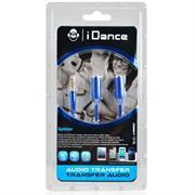 iDance Connect-C2 3.5mm 1-2 Splitter – Blue, Retail Box , 1 year Limited Warranty