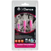 iDance Connect-C2 3.5mm 1-2 Splitter – Pink, Retail Box , 1 year Limited Warranty