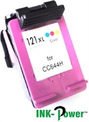 Inkpower Generic for HP 121XL Colour Inkjet Cartridge- CC644HE for use with Deskjet D1560/D1663 / F2423 /F2480 / F2483 /F2493 / D2563/ D2663/F4473 /F4483 /F4583/ D5563 /C4683/C4783 C4793/ C4795-Page Yield up to 350 Pgs-Tri-Colour , Retail Box