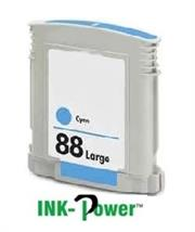 InkPower Generic Replacement For HP88XL C9391A Cyan Ink Cartridge-Page Yield 700 pages with 5% Coverage for use with OfficeJet Pro K 5300, 5400 , 5400DN, 5400DTN, OfficeJet Pro K 5456DN, OfficeJet Pro K 550DTN, 550DTWN, 550TN, OfficeJet Pro K 8600, OfficeJet Pro K 8600DN, OfficeJet Pro L 7400 Series, 7480, OfficeJet Pro L 7500 Series, 7580, 7590, OfficeJet Pro L 7600 Series, 7680, OfficeJet Pro L 7700 Series, 7755, 7760, 7780, 7810, 7815,7818, Retail Box, No Warranty
