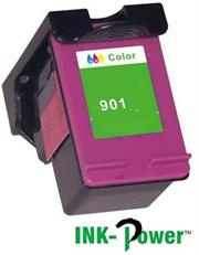 InkPower Generic Replacement Single Tri Colour Officejet Ink Cartridge CC656A for HP901XL- Tri-Colour Cyan, Magenta, Yellow, Single Ink Cartridge, Page Yield 350 Pages with 5% Coverage for use with HP Officejet 4500 Desktop All-in-One Printer (CM753A), HP Officejet 4500 All-in-One Printer (CB867A), HP Officejet 4500 Wireless All-in-One Printer (CN547A), HP Officejet J4660 All-in-One Printer (CB786A), HP Officejet J4580 All-in-One Printer (CB780A), High Yield Colour, Retail Box, No Warranty