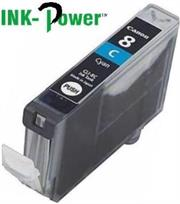 Inkpower Generic for Canon CLI-8 Cyan Dye Ink Cartridge- For Use With Canon Pixma IP 3300 / Pixma IP 3500 / Pixma IP 4200 Series / Pixma IP 4200 X / Pixma IP 4200 / Pixma IP 4300 / Pixma IP 4500 Series / Pixma IP 4500 X / Pixma IP 4500 / Pixma IP 5200 R / Pixma IP 5200 Series / Pixma IP 5200 / Pixma IP 5300 / Pixma IX 4000 R / Pixma IX 4000 Series / Pixma IX 4000 / Pixma IX 5000 / Pixma MP 500 / Pixma MP 510 / Pixma MP 520 Series / Pixma MP 520 X / Pixma MP 520 / Pixma MP 530 / Pixma MP 600 R / Pixma MP 600 Series / Pixma MP 600 / Pixma MP 610 / Pixma MP 800 R / Pixma MP 800 Series / Pixma MP 800 / Pixma MP 810 / Pixma MP 830 / Pixma MP 970 / Pixma MX 700 / Pixma MX 850, Retail Box