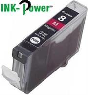 Inkpower Generic for Canon CLI-8 Magenta Dye Ink Cartridge- For Use With Canon Pixma IP 3300 / Pixma IP 3500 / Pixma IP 4200 Series / Pixma IP 4200 X / Pixma IP 4200 / Pixma IP 4300 / Pixma IP 4500 Series / Pixma IP 4500 X / Pixma IP 4500 / Pixma IP 5200 R / Pixma IP 5200 Series / Pixma IP 5200 / Pixma IP 5300 / Pixma IX 4000 R / Pixma IX 4000 Series / Pixma IX 4000 / Pixma IX 5000 / Pixma MP 500 / Pixma MP 510 / Pixma MP 520 Series / Pixma MP 520 X / Pixma MP 520 / Pixma MP 530 / Pixma MP 600 R / Pixma MP 600 Series / Pixma MP 600 / Pixma MP 610 / Pixma MP 800 R / Pixma MP 800 Series / Pixma MP 800 / Pixma MP 810 / Pixma MP 830 / Pixma MP 970 / Pixma MX 700 / Pixma MX 850, Retail Box