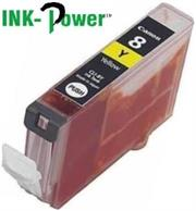 Inkpower Generic for Canon CLI-8 Yellow Dye Ink Cartridge- For Use With Canon Pixma IP 3300 / Pixma IP 3500 / Pixma IP 4200 Series / Pixma IP 4200 X / Pixma IP 4200 / Pixma IP 4300 / Pixma IP 4500 Series / Pixma IP 4500 X / Pixma IP 4500 / Pixma IP 5200 R / Pixma IP 5200 Series / Pixma IP 5200 / Pixma IP 5300 / Pixma IX 4000 R / Pixma IX 4000 Series / Pixma IX 4000 / Pixma IX 5000 / Pixma MP 500 / Pixma MP 510 / Pixma MP 520 Series / Pixma MP 520 X / Pixma MP 520 / Pixma MP 530 / Pixma MP 600 R / Pixma MP 600 Series / Pixma MP 600 / Pixma MP 610 / Pixma MP 800 R / Pixma MP 800 Series / Pixma MP 800 / Pixma MP 810 / Pixma MP 830 / Pixma MP 970 / Pixma MX 700 / Pixma MX 850, Retail Box