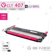 InkPower Generic Samsung CLT-K407S for use with Samsung CLP-320, CLP-325, CLX-3185 Series Magenta Toner Cartridge, Retail Box , No Warranty