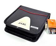 Jarl 40pcs Cd Wallet Black Leather, Retail Box, No Warranty