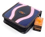 Jarl 40pcs Cd Wallet Pink Black & Blue, Retail Box, No Warranty