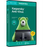 Kaspersky 2020 Anti-Virus 3-User, Retail Packaging, No Warranty on Software