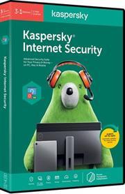 Kaspersky 2020 Internet Security 3-User, Retail Packaging, No Warranty on Software