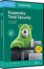 Kaspersky 2020 Total Security 3-User, Retail Packaging, No Warranty on Software