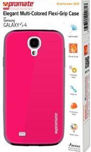 Promate Karizmo-S4 Elegant Flexi-Grip Case for Samsung Galaxy S4-Pink Retail Box 1 Year Warranty