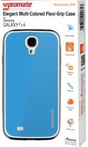 Promate Karizmo-S4 Elegant Flexi-Grip Case for Samsung Galaxy S4-Blue Retail Box 1 Year Warranty
