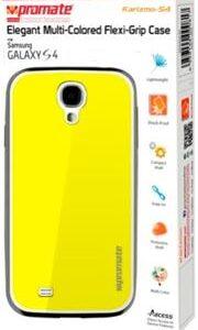Promate Karizmo-S4 Elegant Flexi-Grip Case for Samsung Galaxy S4-Yellow Retail Box 1 Year Warranty