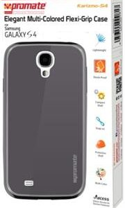 Promate Karizmo-S4 Elegant Flexi-Grip Case for Samsung Galaxy S4-Greyite Retail Box 1 Year Warranty