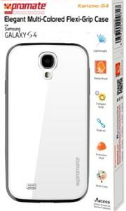 Promate Karizmo-S4 Elegant Flexi-Grip Case for Samsung Galaxy S4-White Retail Box 1 Year Warranty
