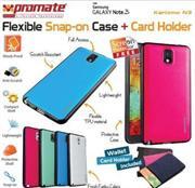 Promate Karizmo-N3.White Elegant Multi-Color Flexi-Grip Case For Galaxy Note 3, White, Retail Box, 1 Year Warranty