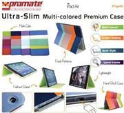 Promate Klyde-Ultra-Slim Multi-colored Premium Case for iPad Air-Purple, Retail Box, 1 Year Warranty