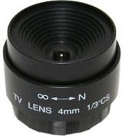 Securnix Lens 4MM FIXED, Retail Box , No Warranty