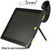 Bone Collection Horn Stand with Sound Amplifier for iPad 2 -Provides Audio amplification up to 15dB without the use of batteries and a stable easy to use stand-Black, Retail Box , 1 year Limited Warranty