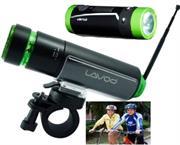 Lavod BikeMan II 4GB Bicycle MP3 Player + Flashlight + FM Radio-Black and Green, Retail Box , 1 year Limited Warranty