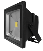 Luceco LED Floodlight – 30W – LFL30W50B05-01 – Black Body 0.5M – 2150 Lumens – 30000hrs, Halogen equivalent: 300 Watt, Beam Angle: 120°, Instant 100% output, Retail Box, 1 year warranty