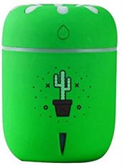 Casey Chamomile Cactus Pot Plant Design Multifunctional Portable 200ml USB Humidifier Air Purifier Mist Maker with LED light For Home Office and Car-Green Retail Box No warranty