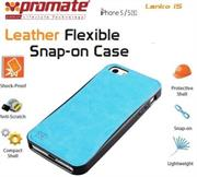 Promate Lanko.i5 iPhone 5 Hand-Crafted Leather Case, Protective, elegant & Flexible for iPhone 5/5s Colour:Blue Flexible snap-on case wrapped in hand crafted leather for iPhone5/5S,Lanko.i5 is an elegant case that protects your iPhone 5/5s in a high quality polycarbonate shell wrapped in hand-crafted leather. This durable case snaps on the back of your iPhone keeping a slim form factor while protecting against bumps and scratches. Lanko.i5 is customized to provide full access to ports, buttons and Cameras on your iPhone. , Retail Box , 1 Year Warranty