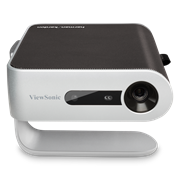 Viewsonic M1+ WVGA Portable DLP LED Projector ; Display: Type: DLP LED Resolution Type: WVGA (854×480) Resolution: 854 x 480 Brightness (Lumens): 250 Display Size (in.): 24 – 100 in. / 0.6 – 2.54 m Throw Distance: 40 in / 1.0 m Throw Ratio: 1.2 Keystone: Vertical (+/- 40°) Lens: Fixed Zoom Light Source (watt): 10 Light Source Life, Normal (hours): 30000 Light Source Life, Dynamic Eco-Mode (hours): 30000 Color Depth: 1.07B Color (R/G/B 10bit) Dynamic Contrast Ratio: 120,000:1 Aspect Ratio: 16:9 FREQUENCY HORIZONTAL 15h~135kHz FREQUENCY VERTICAL 23~120Hz USB 2.0 TYPE A x1 USB 3.1 TYPE C x 1 CARD READER Micro SD 3.5MM AUDIO OUT x 1 HDMI 1.4 x 1 INTERNAL SPEAKERS 3W (x2) Herman Kardiman , Retail Box , 1 year warranty-3months on Bulb