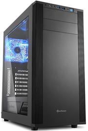 Sharkoon (4044951019328) M25-W ATX Tower PC Gaming Case Black with Side Window – USB 3.0, Mounting possibilities: 1x 5.25″, 1x 5.25″ or 3.5″, 1x 5.25″ to 3.5″ Bay Cover, 1x 3.5″, 2x 3.5″ or 2.5″, 2x 2.5″, Front I/O: 2x USB 3.0 (internal 19-pin mainboard connector), Front Audio – NO PSU, Retail Box , 1 Year warranty