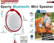 Promate Medal Sporty Bluetooth Mini Speaker – Maroon, Retail Box, 1 Year Warranty
