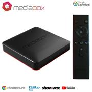 Mediabox Ranger 4K Android Certified TV Box-Quad Core 1.5Ghz Processor, ARM PentaCore Mali Graphics, 2GB Internal Memory, 8GB Internal Storage, MicroSD Slot, Wi-Fi Dual Band 802.11 a/b/g/n, Bluetooth 4.1, Ethernet RJ45 Port , HDMI 2.1 Output Port, 2x USB Port, Optical Audio Out, AV Port, Dolby HD Audio, Android TV Operating System, Retail Box , 1 year Limited Warranty
