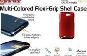 Promate Nitro.Red Multi-Colored Flexi-Grip Designed Case For Samsung Galaxy Note 2., Red, Retail Box, 1 Year Warranty
