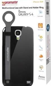 Promate Pless-S4 Multifunctional Case with a Stand and a Holder Ring for Samsung Galaxy S4-Black Retail Box 1 Year Warranty