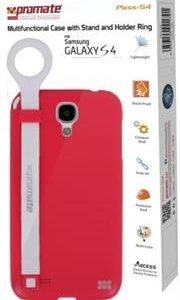 Promate Pless-S4 Multifunctional Case with a Stand and a Holder Ring for Samsung Galaxy S4-Pink Retail Box 1 Year Warranty
