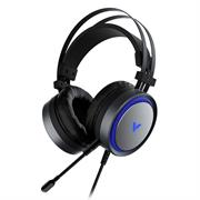 Rapoo VH530 Virtual 7.1 Channels Gaming Black Headset-Cool LED back light, Headphone Diameter:500mm, impedence :1kHz/32Ohm; Microphone Diameter: 4,081,5mm, ENC single microphone de-noising function, Microphone Mute function, Ultra strong & durable material, soft and confortable earcups, light weight, , Retail Box , 1 year Limited Warranty