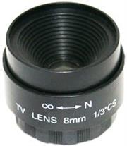 Securnix Lens 8MM FIXED IRIS, Retail Box , No Warranty