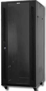 NetiX / UniQue 19″ Floor Standing Cabinets-600x600x1000mm-22U , with 2 fans, Lockable Smoky Grey Glass Door , 2 pcs of side doors, 4xjacking feet ,4xpcs of castors, 20 pcs of cage and nuts)-