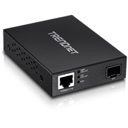 TrendNet Gigabit PoE PD SFP Fiber Media Converter, Retail Box, 1 year Limited Warranty