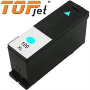 TopJet Generic Replacement Ink Cartridge for Lexmark 100XL LE14N1069BP – Page Yield 600 pages with 5% Coverage for Lexmark S305 / S405 / S505 / S605 / S815 / Pro 205 / Pro 705 / Pro 707 / Pro 805 / Pro 905 – High Yield Cyan, Retail Box