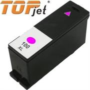 TopJet Generic Replacement Ink Cartridge for Lexmark 100XL LE14N1070BP – Page Yield 600 pages with 5% Coverage for Lexmark S305 / S405 / S505 / S605 / S815 / Pro 205 / Pro 705 / Pro 707 / Pro 805 / Pro 905 – High Yield Magenta, Retail Box , No Warranty