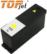 TopJet Generic Replacement Ink Cartridge for Lexmark 100XL LE14N1071BP – Page Yield 600 pages with 5% Coverage for Lexmark S305 / S405 / S505 / S605 / S815 / Pro 205 / Pro 705 / Pro 707 / Pro 805 / Pro 905 – High Yield Yellow, Retail Box , No Warranty