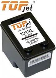 TopJet Generic Replacement Ink Cartridge for HP 121XL -CC641HE – Page Yield 600 pages with 5% coverage for use with Deskjet D1560 / D1663 / F2423 / F2480 / F2483 / F2493 / D2563 / D2663 / F4473 / F4483 / F4583 / D5563 / C4683 / C4783 / C4793 / C4795 -High Yield Black , Retail Box