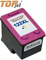 TopJet Generic Replacement Ink Cartridge for HP 122XL CH564HE -Page Yield 300 pages with 5% coverage for HP Deskjet 1000 / 1050 / 2000 / 2050 / 3000 / 3050 / HP OfficeJet 2620 / 2622 / 2624 / 4631 / 4632 / 4634 / 4635 / 4636 / 4638 / 4639 -High Yield Tri-Colour , Retail Box