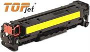 TopJet Generic Replacement Toner Cartridge for HP 128A -CE322A – Page Yield: 1300 pages with 5% coverage for use with Colour LaserJet CM1415 / CM1415fn / CM1415fnw / CP1525nw -Yellow , Retail Box