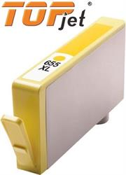 TopJet Generic Replacement Ink Cartridge for HP 655XL CZ112AE – Page Yield 480 pages with 5% Coverage for HP Deskjet Ink Advantage 3525 / 4615 / 5525 / 4625 – High Yield Yellow, Retail Box