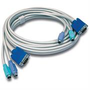 TrendNet 10ft PS/2/VGA KVM Cable-Connect computers with VGA and PS/2 ports to a TrendNet KVM device-Use with TrendNet 2, 4, 8 and 16 port PS/2 KVM switches, Retail Box, 6 months Limited Warranty