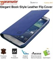 Promate Tama-S4 Elegant Book-Style Leather Flip Cover for Samsung Galaxy S4-Blue Retail Box 1 Year Warranty