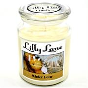 Lilly Lane Winter Pear Scented Candle Large Lidded Mason Glass Jar – Wax Capacity 510grams, Burn Time Up to 75 Hours, High Quality Premium paraffin wax, Natural Material Wick , 100% recyclable, Large Lidded Mason Glass Jar Retail Box No warranty