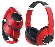 Genius HS930BT Wireless Bluetooth 4.0 Stereo Headset with Built in Microphone – Adjustable and foldable headband, 40mm Neodymium Driver Unit, 32ohms Impedance, 20Hz ~ 20KHz Frequency Response, 3.5 audio jack enables wired audio input, Built-in 500mAh rechargeable Lithium Ion battery, 10m Range – Red, Retail Box , 1 year Limited Warranty
